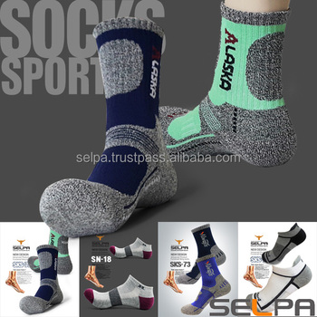 7e683d0be48 Korea Unisex Cotton Cushioned Hiking Crew Socks Hiking Socks Jogging Running  Crew Socks