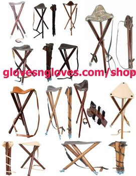 Swell Wooden Folding Chair Stool Leather Seat Camping Fishing Hunting Tripod Stool Buy Wooden Camping Stool Wood Chair Step Stool Leather Wood Bar Stool Ibusinesslaw Wood Chair Design Ideas Ibusinesslaworg
