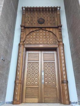 Double Entry Wood Doors double entry wood doors,solid hand made wooden carved door,luxury