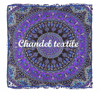 Indian Square Floor Pillow Cover Daybed Star Mandala