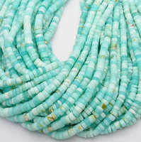 AAA Grade Sky Blue Peruvian Opal 4-7mm Heishi Beads Wholesale