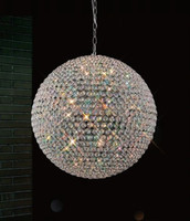 Crystal ball ceiling lamp, Round crystal ball pendant light