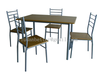 Dining room furniture square MDF Dining Table and chair with metal legs
