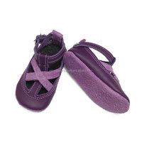 Purple Leather Baby Sandals,Unique Baby Shoes