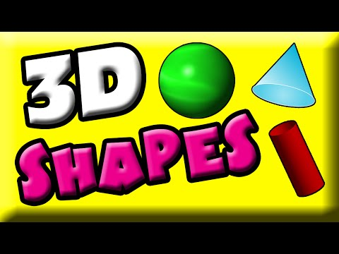 Learn 3D Shapes for Kids | Three Dimensional Shapes | Kindergarten Math | 1st Grade Math | 3d Shapes