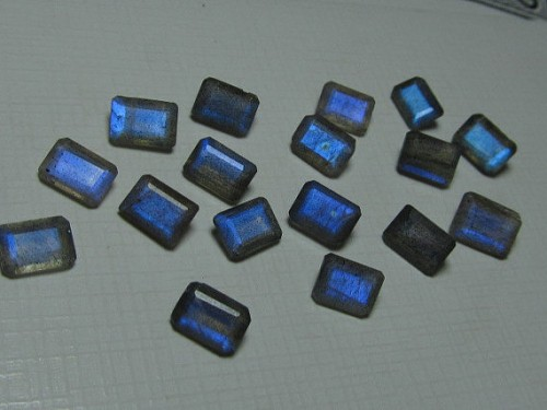 Genuine Labradorite Shape 10x14mm Octagon Cushion Faceted Cut Gemstone For Jewelry