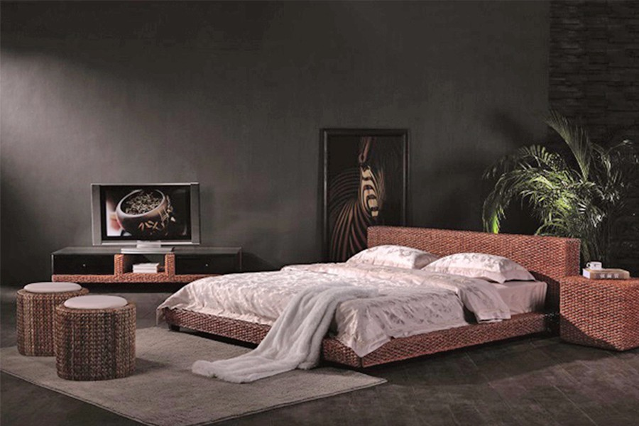 Water hyacinth bedroom set furniture - Vietnam factory