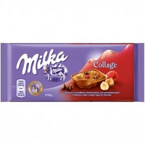 Milka Collage Himbeere