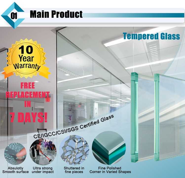 AS/NZS2208 6mm 8nmm 10mm 12mm 15mm Toughened Glass Price For Wall