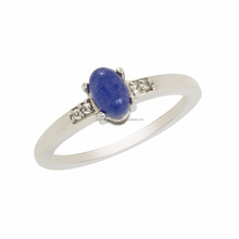 New Products 2016 Shine Jewel Express Blue Sapphire & White Topaz Gemstone Solid 925 Sterling Silver Ring, Wedding Ring SHRI0206