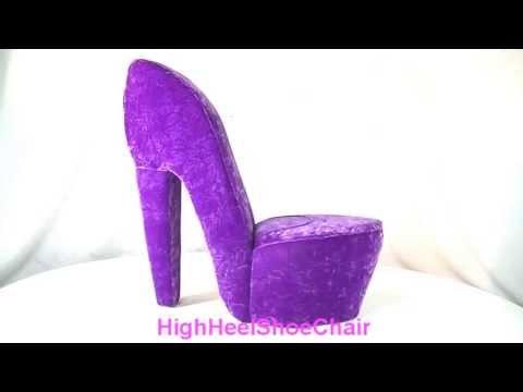 ... Purple High Heel Shoe Chair