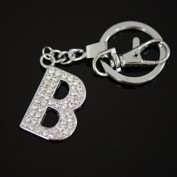 diamante letter b keyring fancy key rings for sale