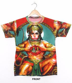 69ff047f Hindu God Deity Sri Ram Pavanputra HANUMAN Bajrang Bali Om Yoga Tee Tshirt  Shirt Hippie Dj