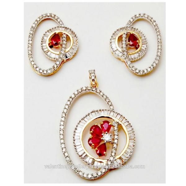 Stunning stylish ruby diamond pendant set buy designer gold stunning stylish ruby diamond pendant set buy designer gold pendant ruby setbaguette cut diamond pendant setdiamond gold earring pendant product on aloadofball Image collections