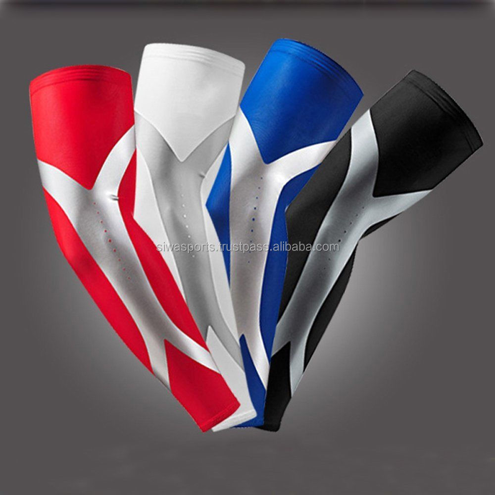 Cool Elastic Poly Waterproof Arm Sleeve / Sublimation Custom Fashion Compression Arm Sleeve