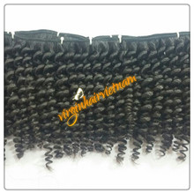 2016 Whole sale Beauty Curly Hair Extensions Have Natural Black Color , Full Cuticles , Strong Bundles With Glue