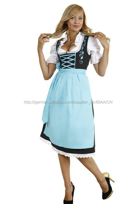 new products 6528d 1142d WOMEN CUSTOM Baumwolle Polyester BAVARIAN MINI DIRNDL ...