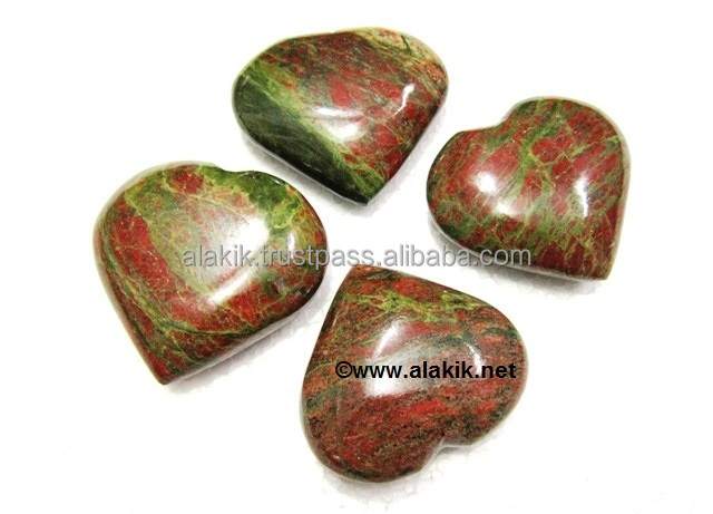 Unakite Pub Hearts : Gemstone Pub Hearts
