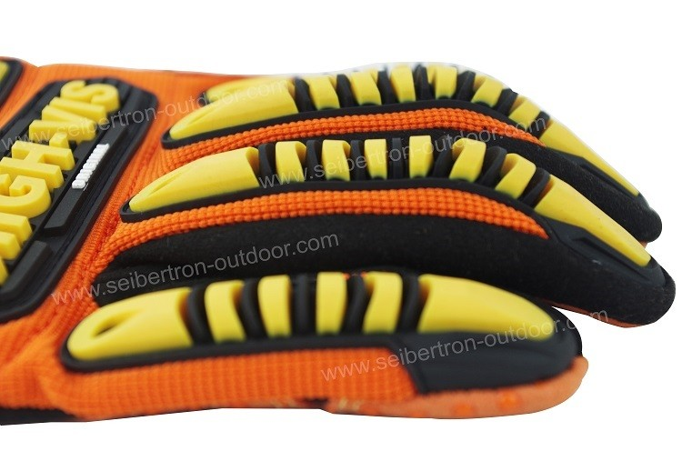 Seibertron NEW HIGH-VIS SDX2 Impact Protection Oil and Gas Safety Gloves,Heavy duty Mining Safety Protect Gloves