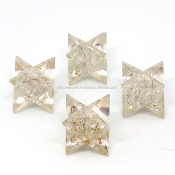 Orgonite Crystal Quartz Merkaba Stars : Chakra Merkaba Star For Healing : Healing Tools