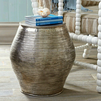 Drum Shaped Coffee Table.Metal Drum Shape Antique Finished Aluminium Table For Home Decoration Buy Extendable Aluminum Table Coffee Table Home Centre Coffee Tables Product