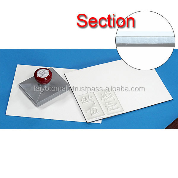 Innovative materials to make rubber stamp Polyethylene pre-inking rubber sheet with Nonwoven fabric for laser made in Japan