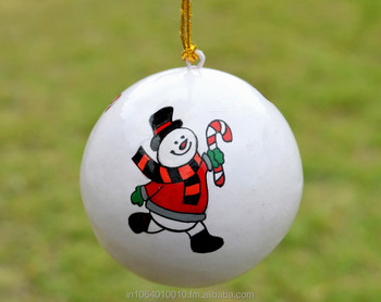 Snowman Handmade Christmas Baubles Hand Painted Christmas