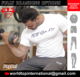Custom Weight Lifting T-Shirts / Weight/Power Lifting Bodybuilding Workout Tee T-shirt Fine Quality Stitching, Custom Printing
