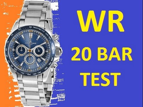 Water Resistant 10 Bar And 20 Jacques Lemans Watches 1 1836 Test At