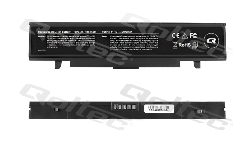 QOLTEC - REAL CE - BATTERY FOR SAMSUNG R580