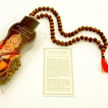 Prayer Mala Beads - Sandalwood - 108 Prayer Beads - Export from NY, USA - FREE Samples - No minimum order - Made by Yogis