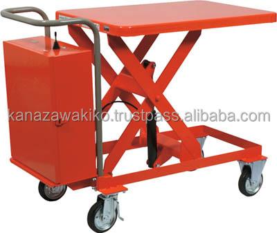 Trusco Scissor Lift Trolley (battery Powered Hydraulic Lifting ...