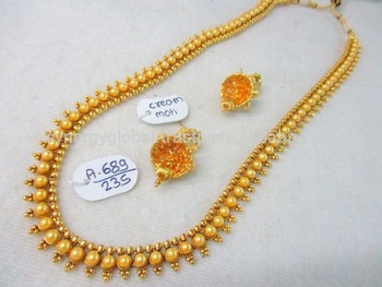 Indian kundan polki jewellery - Antique indian bridal jewellery set - one  gram gold jewellery - f14b4ff8f8