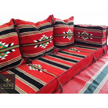 Orientalische Sitzecke Sitzkissen Bodenkissen Sadu Arabic Sitting