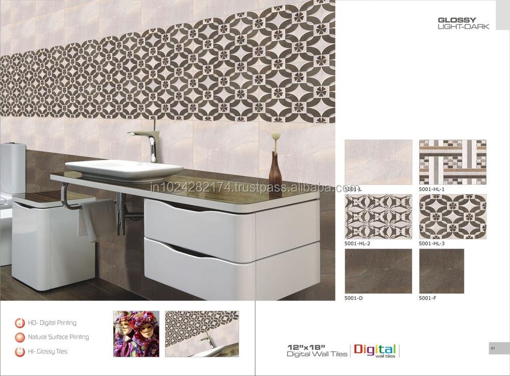 Hot Sale Bathroom 3d Inkjet Digital Ceramic Wall Tiles For