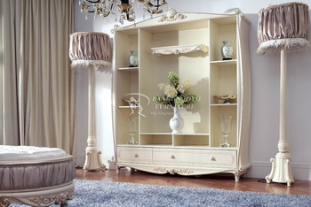 Hand Painted Display Sideboard Buffet Shabby Chic Curio Cupboard Vintage Wooden Dining Furniture View Painted Sideboards And Buffets Bangunjoyo