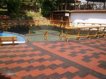 Ergotile Quad Swimming Pool Area Rubber Tile Buy Ergotile Quad