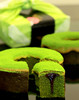 Sweet homemade frozen dessert green tea bottle GREEN TEA CHOCOLATE BAUMKUCHEN for gift with creamy and smooth flavor
