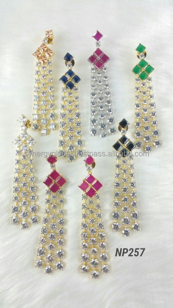 Cheap american diamond CZ earrings wholesale india for african market