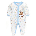 Baby Girls Boys' 1-piece Applique Snap-Up Romper, Sleep and Play Clothing Embroidered Lovely Sheep