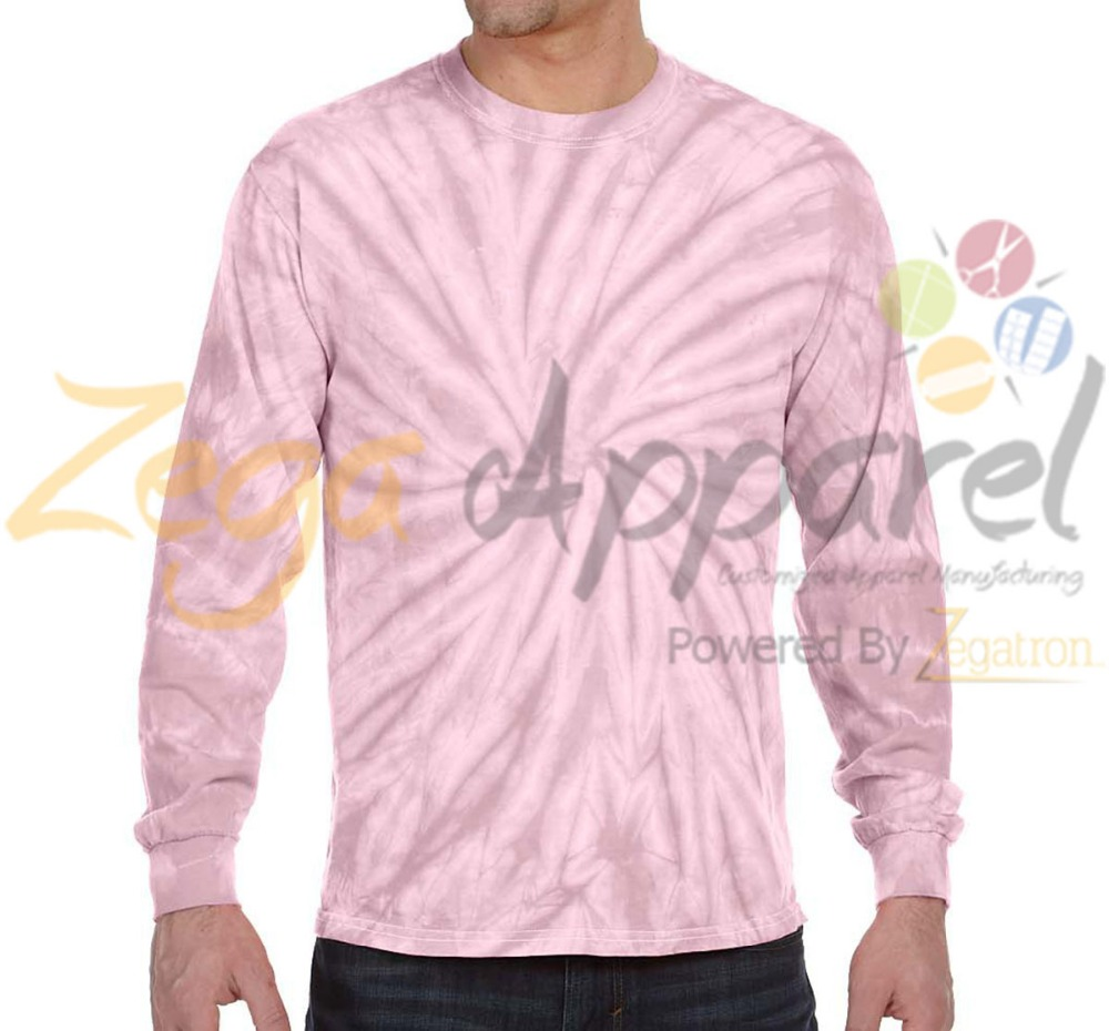 Zegaapparel clothing manufacturer best sale custom tie dye t shirts