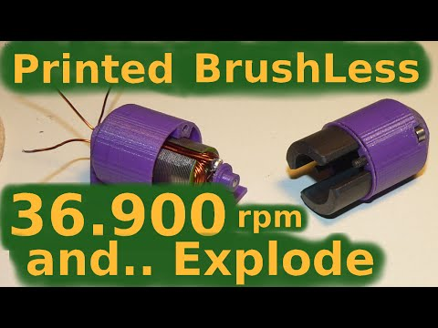 RC 3D Printing Brushless Motor 36.900rpm and ... explode in my hand