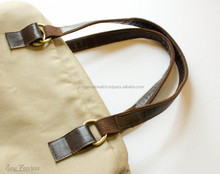 Tote bag leather handles