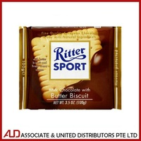 Ritter Sport Milk Chocolate With Buter Biscuit 100g