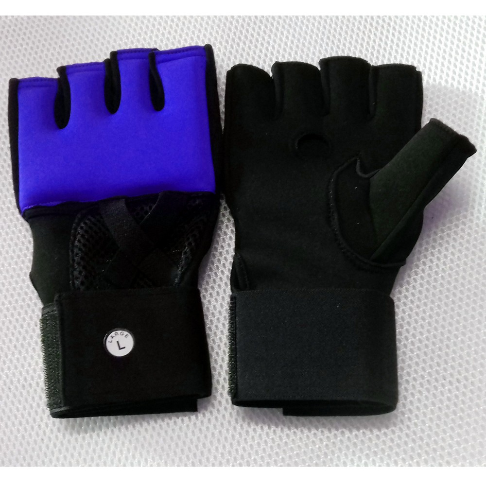 Blue Inner Hand Wraps Gloves Boxing Fist Padded Bandages MMA Gel Strap Mitts Kick
