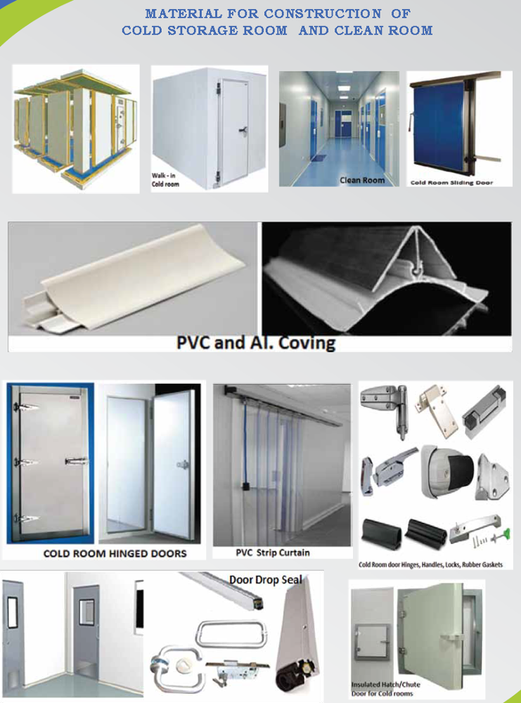 COLD ROOMS / Cold room Accessories/ Walk in cooler construction material + 971 56 5478106