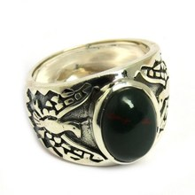 Incredible !! Blood Stone 925 Sterling Silver Oval Shape Ring, Indian Silver Jewelry Suppliers, Sterling Rings