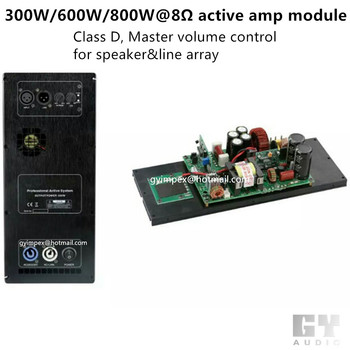 300w 600w 800w Active Speaker Digital Class D Power Amplifier ...