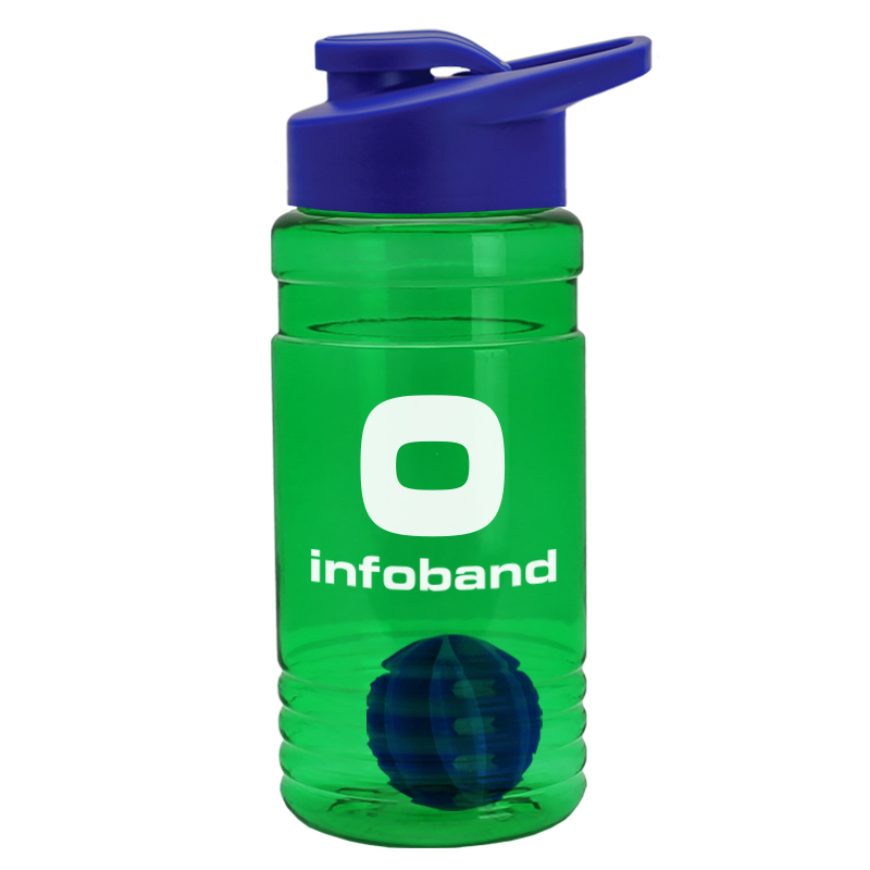 USA Made 20 oz. Tritan Shaker Bottle With Drink-Thru Lid - BPA-free, features a mixing ball and comes with your logo