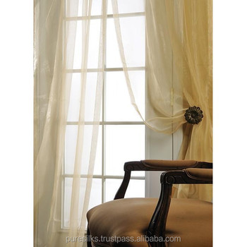 Ivory Silk Organza 108 Inch Wide Sheer Curtain Panel